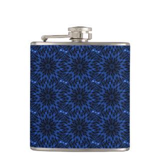 Spotted Leopard Blue Kaleidoscope Flask