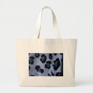Spotted leopard pattern, grey white and black jumbo tote bag