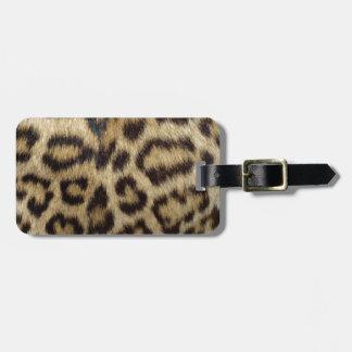 Spotted Leopard Skin Bag Tag