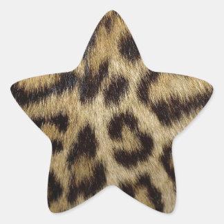 Spotted Leopard Skin Star Sticker