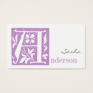 Spotted Letter A Monogrammed Business Cards