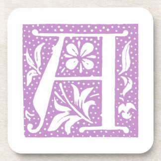 Spotted Letter A Monogrammed Coasters