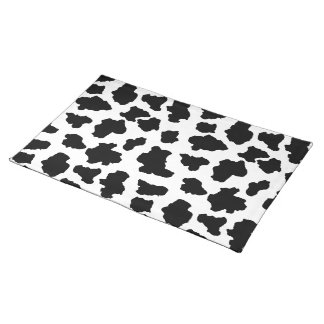 Spotted Little Moo Cow Dutch Holstein Animal Spots Place Mats