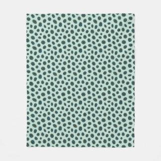 Spotted Mandarin Animal Print Fleece Blanket