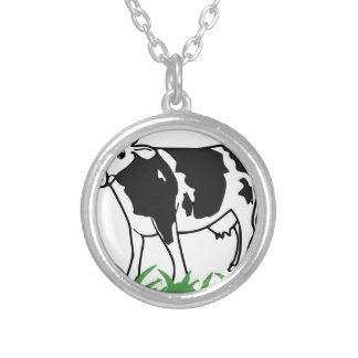 Spotted Moo Cow Silver Plated Necklace