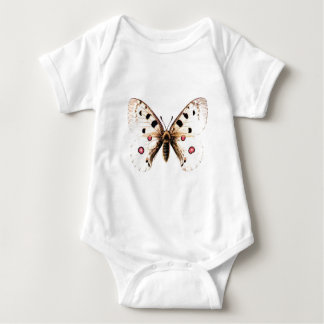 Spotted moth baby bodysuit