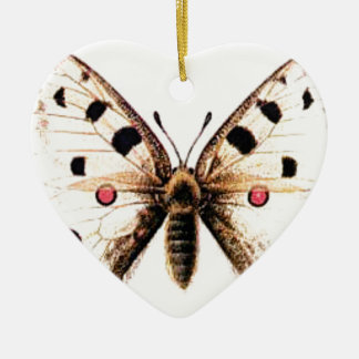 Spotted moth ceramic ornament