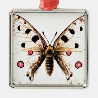 Spotted moth metal ornament