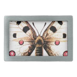 Spotted moth rectangular belt buckle