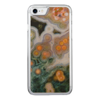 Spotted Ocean Jasper Carved iPhone 7 Case