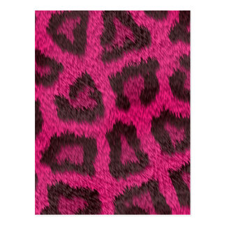 Spotted Pink Animal Fur Postcard