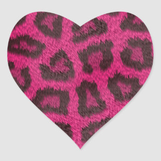 Spotted Pink Animal Fur Heart Sticker