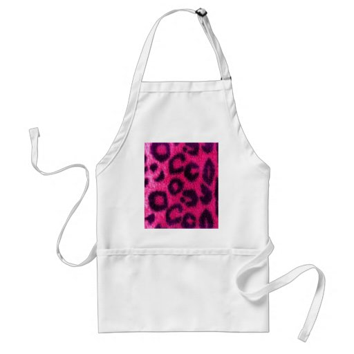 Spotted Pink Leopard Wild Cat Apron