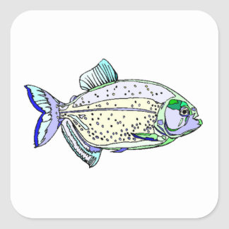 Spotted Piranha Sticker