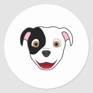 Spotted Pitbull Round Sticker