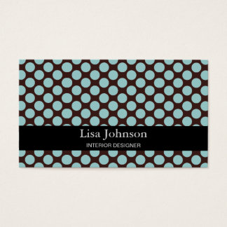 Spotted Polka Dots Interior Designer Card