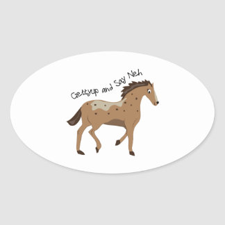 Spotted Pony Oval Stickers