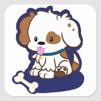 Spotted Puppy Square Sticker