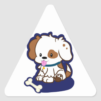 Spotted Puppy Triangle Stickers