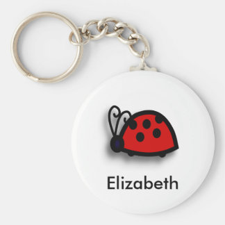 * Spotted Red Ladybird Graphic Keychain