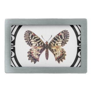 spotted ringed butterfly belt buckle