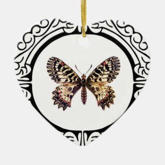 spotted ringed butterfly ceramic ornament