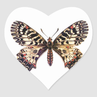 spotted ringed butterfly heart sticker