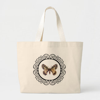 spotted ringed butterfly large tote bag