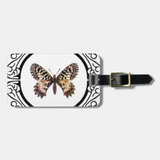 spotted ringed butterfly luggage tag