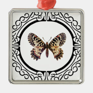 spotted ringed butterfly metal ornament