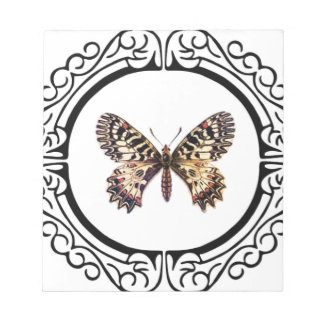 spotted ringed butterfly notepad