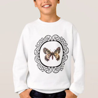 spotted ringed butterfly sweatshirt