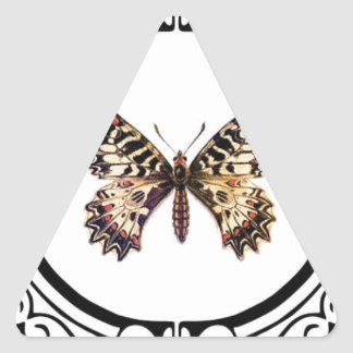 spotted ringed butterfly triangle sticker