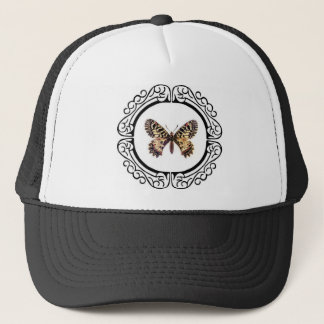 spotted ringed butterfly trucker hat