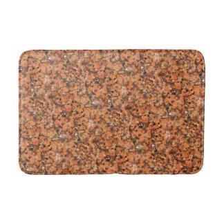 Spotted Rock Texture Lively Pattern Orange Black Bath Mat