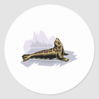 Spotted Seal Round Sticker