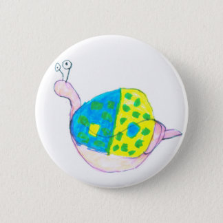 spotted shell snail 2 inch round button