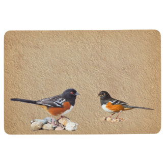 SPOTTED TOWHEES FLOOR MAT