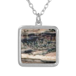 spotted white desert silver plated necklace