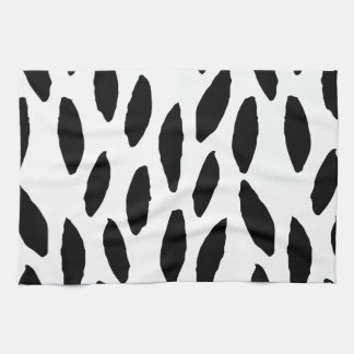 Spotty Brush Stroke Drops Pattern Towel
