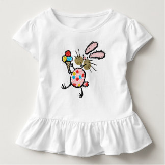 Spotty Bunny with Ice Cream Toddler T-shirt