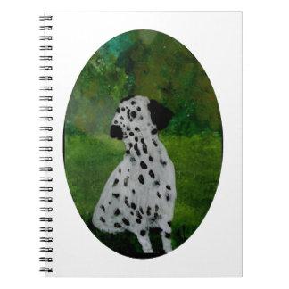 Spotty Dalmatian Dog Art Spiral Notebooks