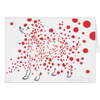 Spotty dalmatian dog greeting card