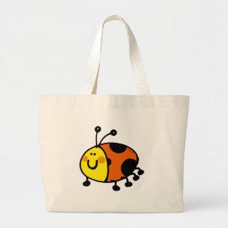 Spotty ladybug large tote bag