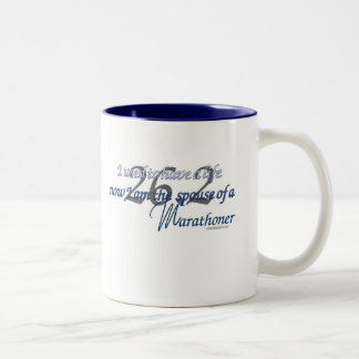 SPOUSE OF A MARATHONER Two-Tone COFFEE MUG