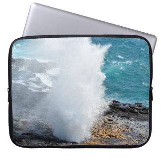 Spouting Horn in Kauai, Hawaii Laptop Computer Sleeves