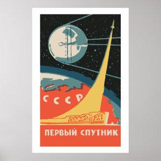 Spoutnik CCCP Poster