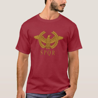 SPQR Eagle Laurel Gold Dark T-Shirt