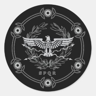 SPQR The Roman Empire Emblem Sticker. Round Sticker