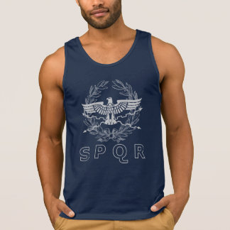 SPQR The Roman Empire Emblem Tank Top